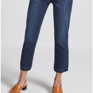 Current Elliott Cropped Straight Jeans Raw Hem